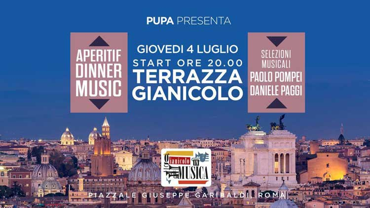 Terrazza Gianicolo Roma Giovedì 4 Luglio 2019 Apericena