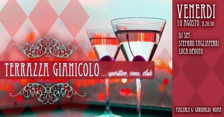 Terrazza Del Gianicolo Venerdì 10 Agosto 2018 Discoteche Roma