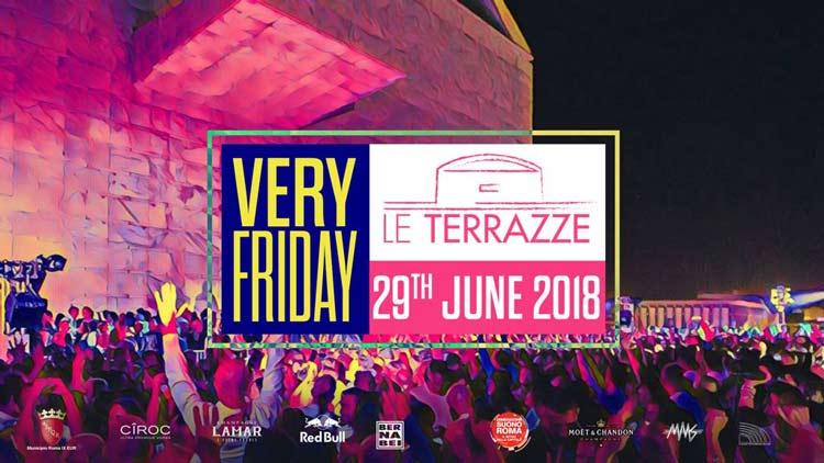 Le Terrazze Eur Roma Venerdì 29 Giugno 2018 Discoteche Roma